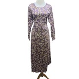 VSTAR Gamis Tribe Batik [62-137] - Purple (V) - Maxi Dress Wanita